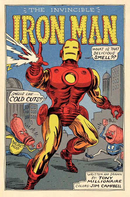 Tony Millionaire's Iron Man